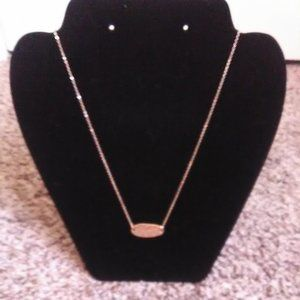 small goldtone necklace